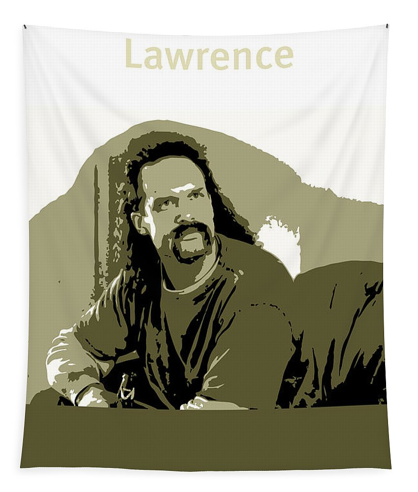 Office Space Tapestry featuring the mixed media Office Space Lawrence Diedrich Bader Movie Quote Poster Series 006 by Design Turnpike