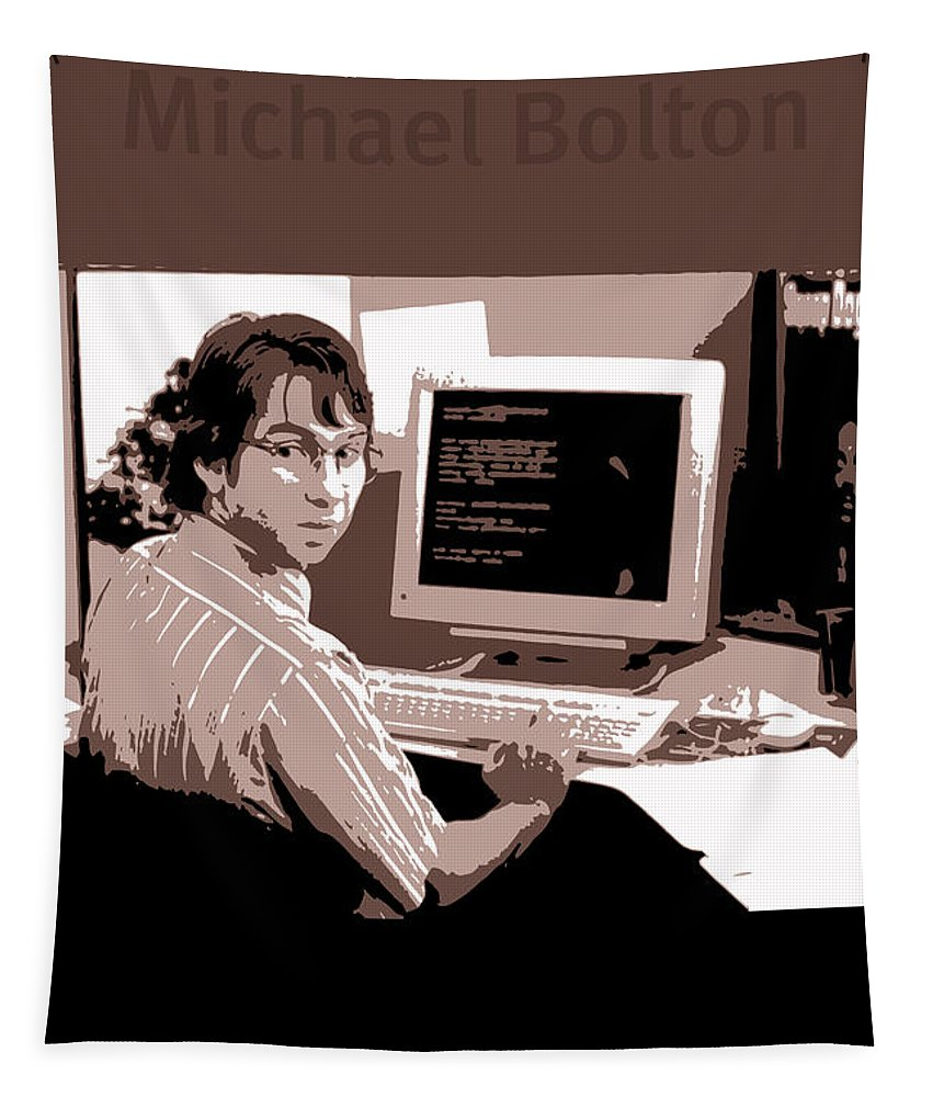Office Space Tapestry featuring the mixed media Office Space Michael Bolton Movie Quote Poster Series 004 by Design Turnpike