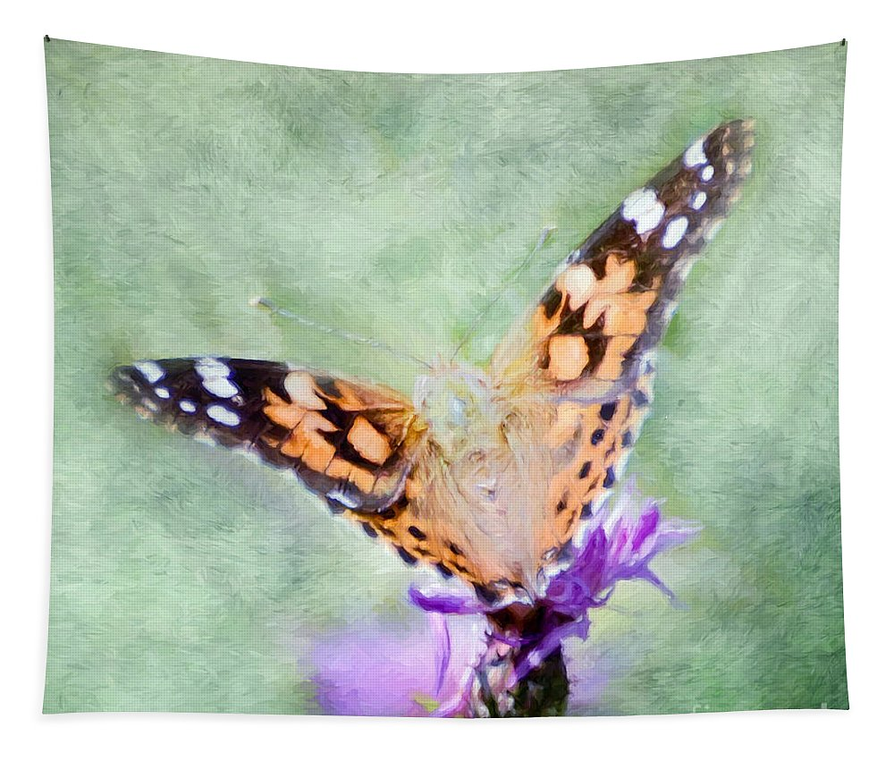 Butterfly Tapestry featuring the photograph Oh What A Lady by Kerri Farley