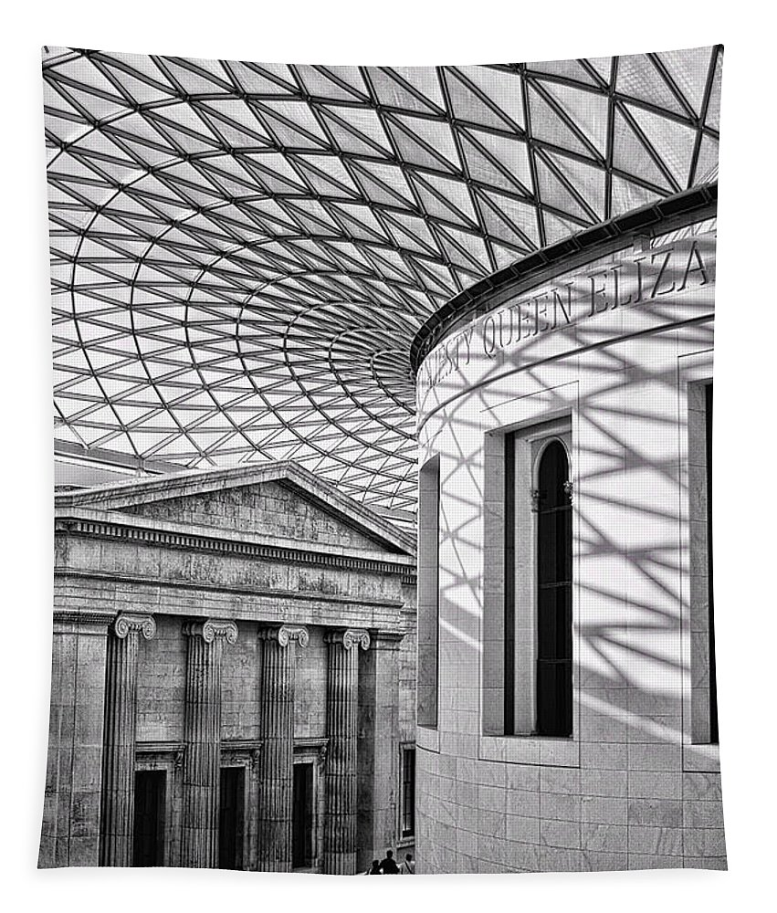 British Museum Tapestry featuring the photograph Old And New by Heather Applegate
