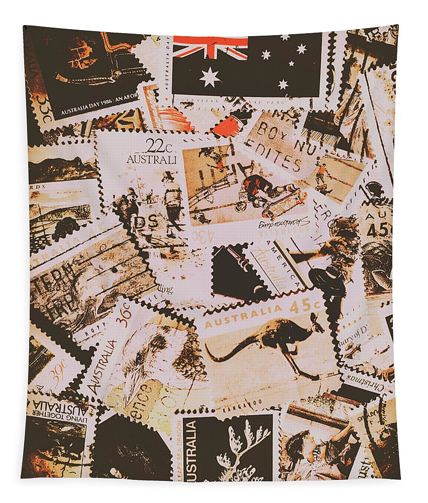 Australia Tapestry featuring the photograph Old Australia In Stamps by Jorgo Photography - Wall Art Gallery