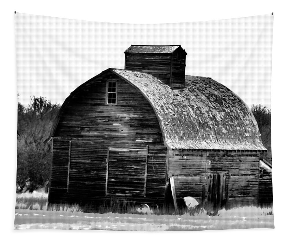 Barn Tapestry featuring the photograph Old Barrel Barn Baw by Jeff Swan