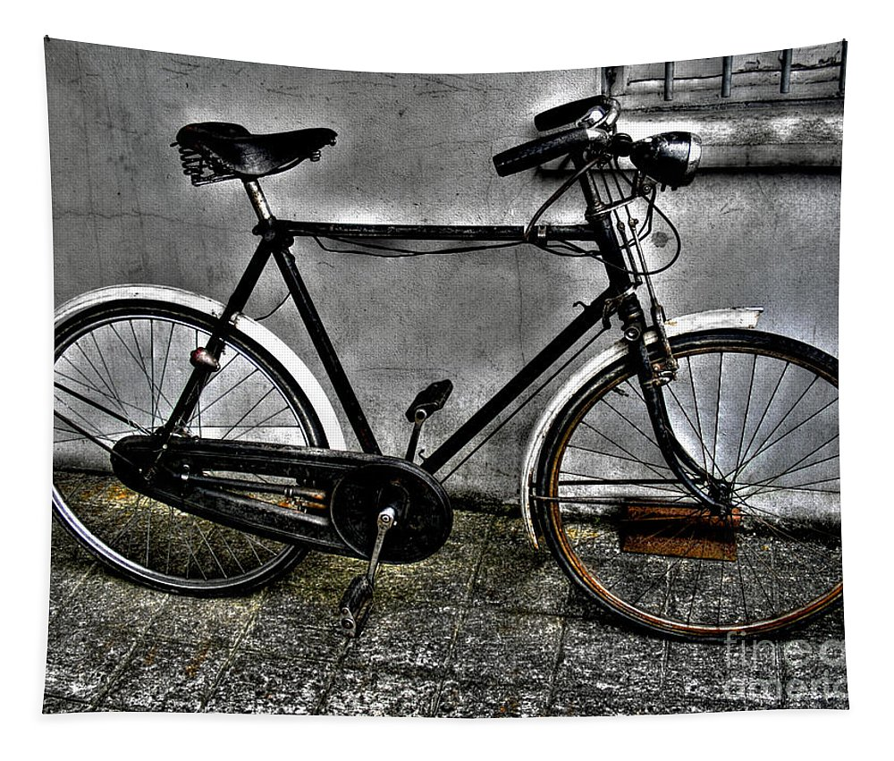 Bicycle Tapestry featuring the photograph Old Bicycle by Nina Ficur Feenan