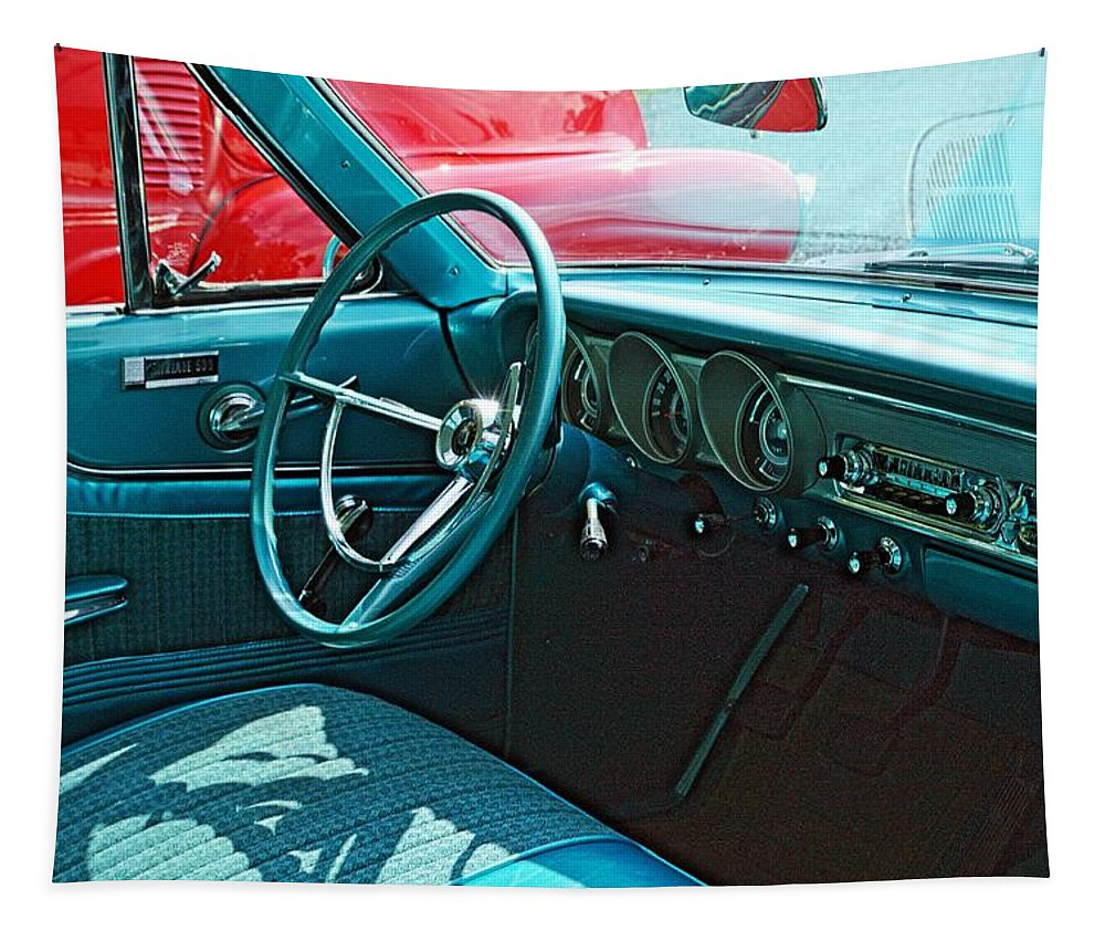 Cars Tapestry featuring the photograph Old Car Interior by Karl Rose