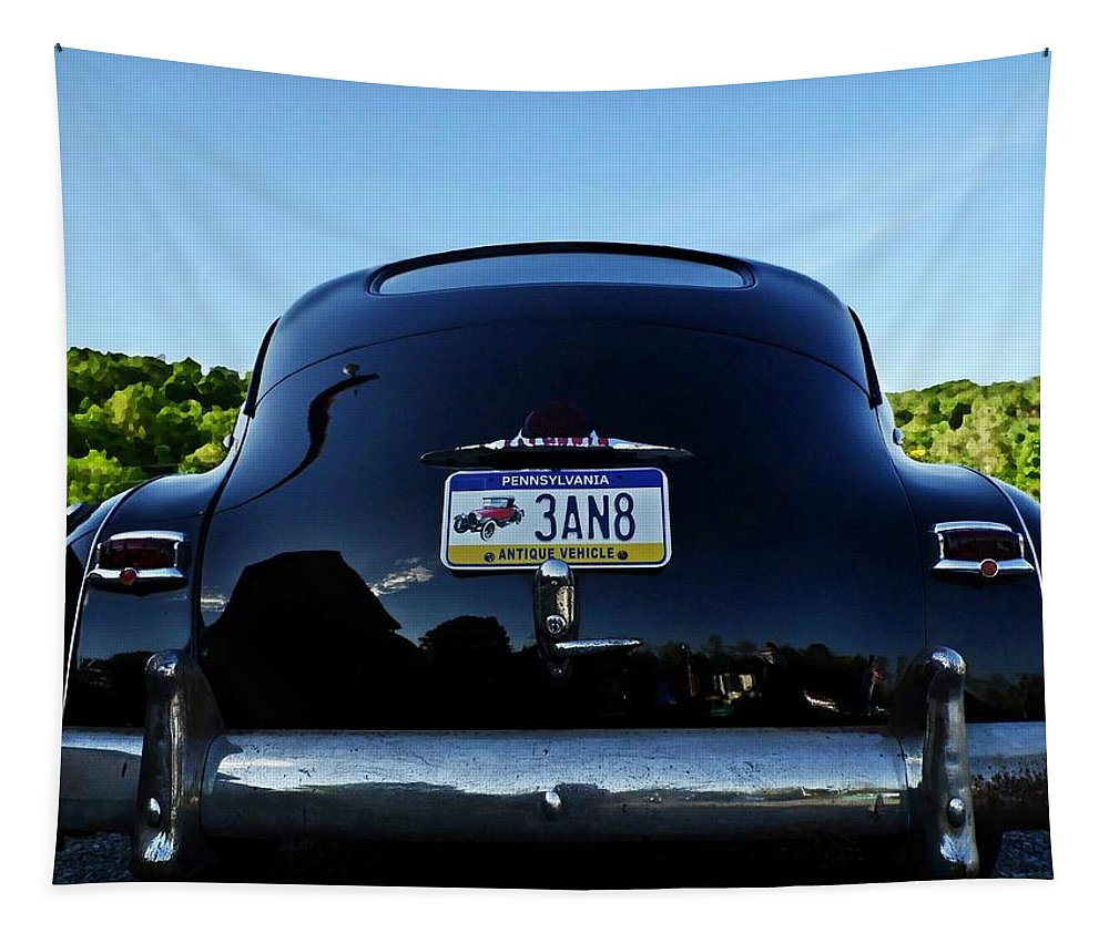 Cars Tapestry featuring the photograph Old Car Trunk With Artistic Background by Karl Rose