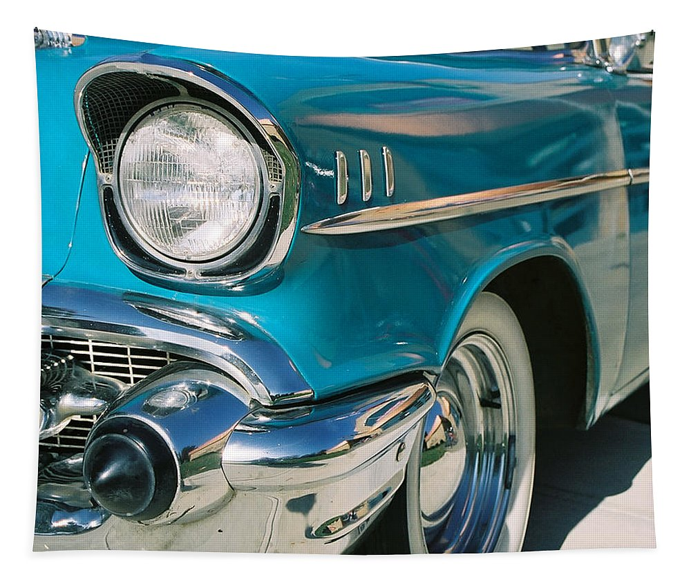 Chevy Tapestry featuring the photograph Old Chevy by Steve Karol