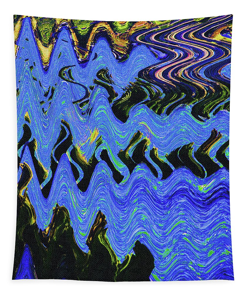 Old Columbia River Water Front Abstract Tapestry featuring the photograph Old Columbia River Water Front Abstract by Tom Janca