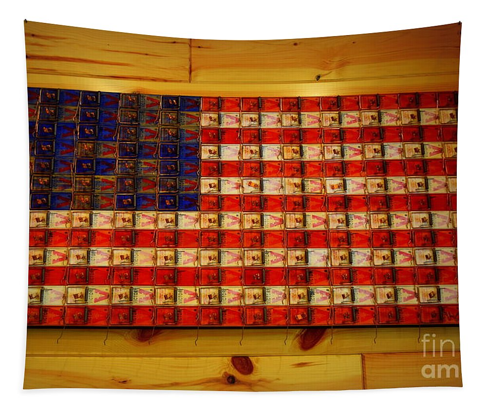 America Tapestry featuring the photograph Old Glory by Betsy Warner