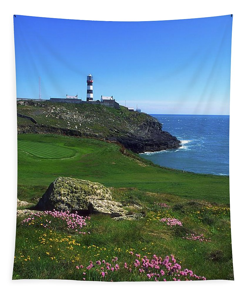 Clear Sky Tapestry featuring the photograph Old Head Of Kinsale Lighthouse by The Irish Image Collection