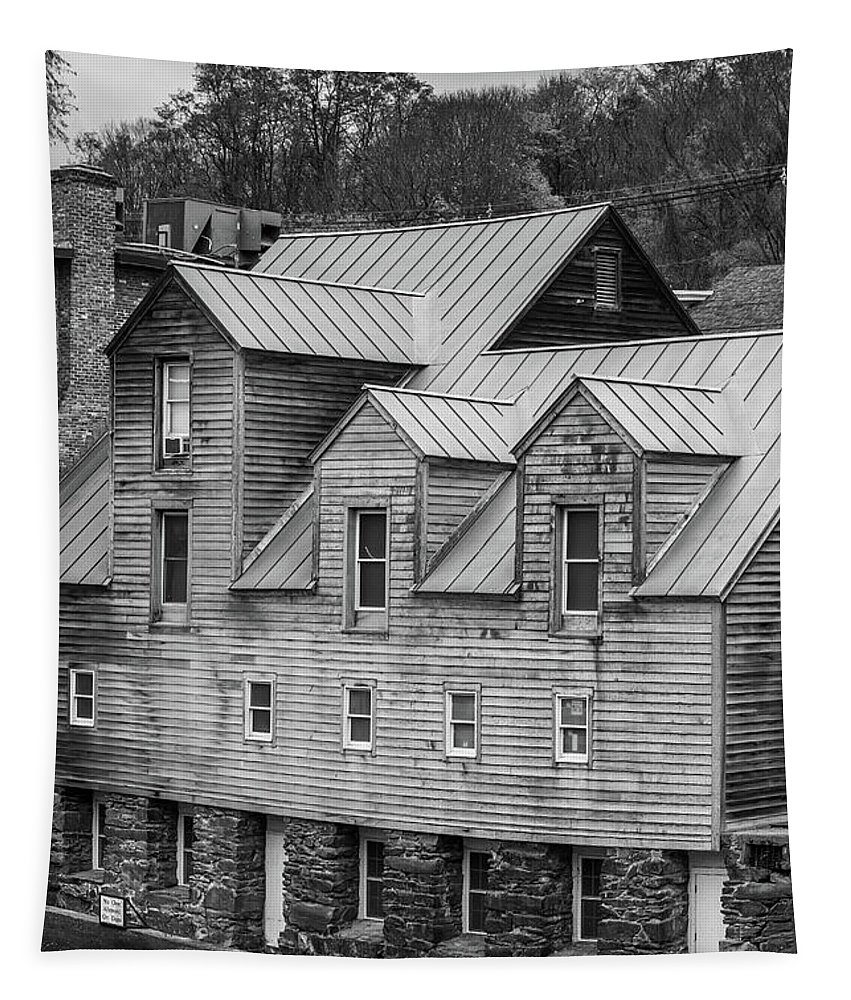 Vermont Tapestry featuring the photograph Old Mill Buildings by Edward Fielding