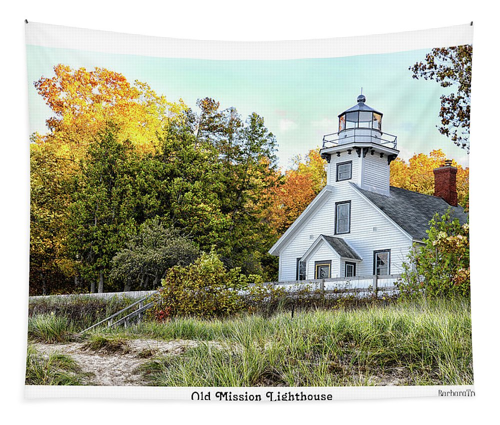 Lighthouse Tapestry featuring the photograph Old Mission Lighthouse by Barbara Treaster
