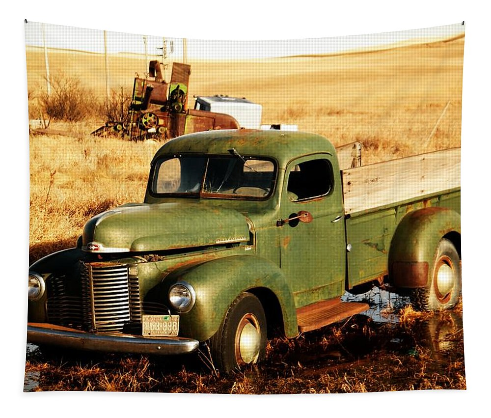 Pickup Tapestry featuring the photograph Old Pickup by Jeff Swan