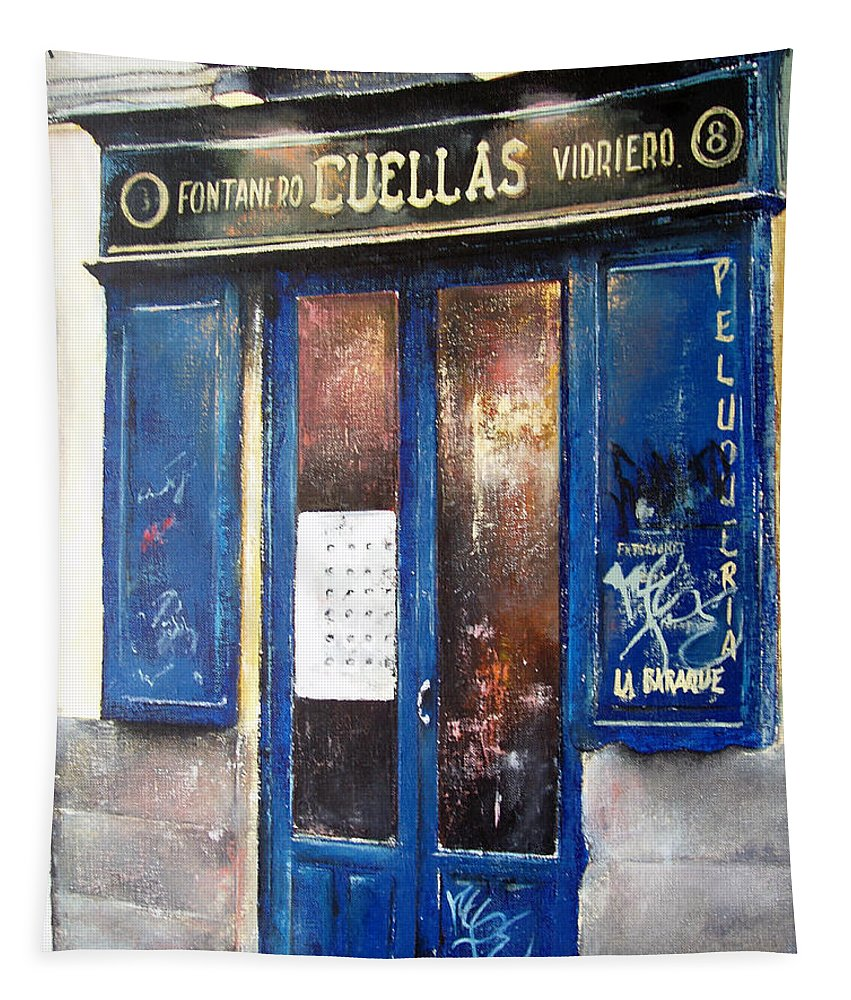 Old Tapestry featuring the painting Old Plumbing-Madrid by Tomas Castano