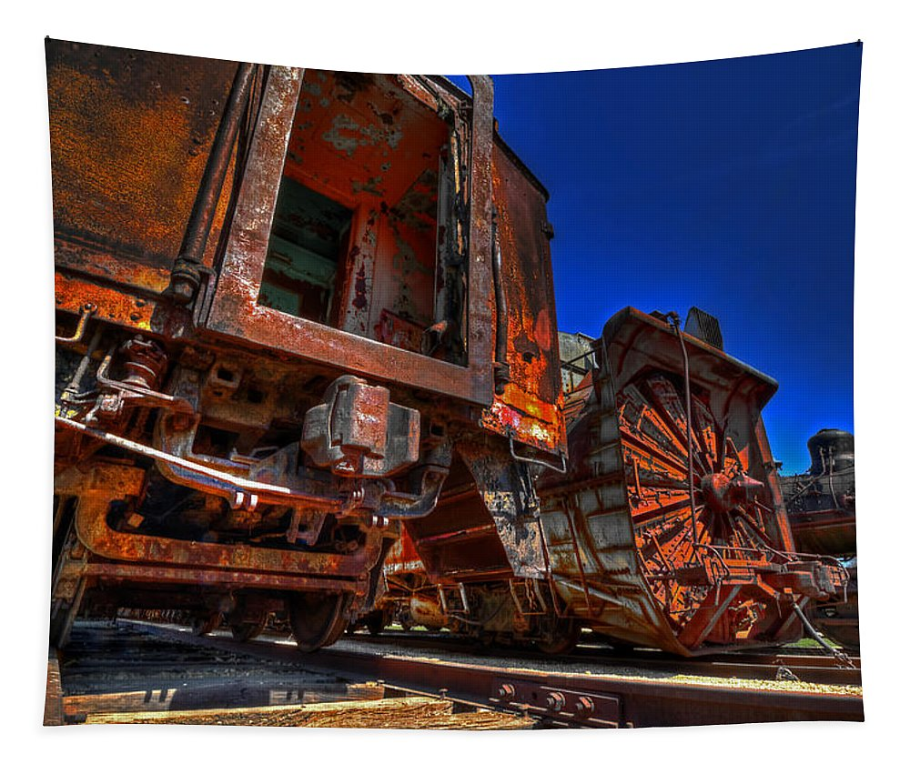 Hdr.wide Angle.super Wide Angle Tapestry featuring the photograph Old Relics by Robert Storost