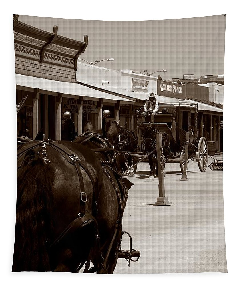 Outside Tapestry featuring the photograph Old West by Charleen Treasures