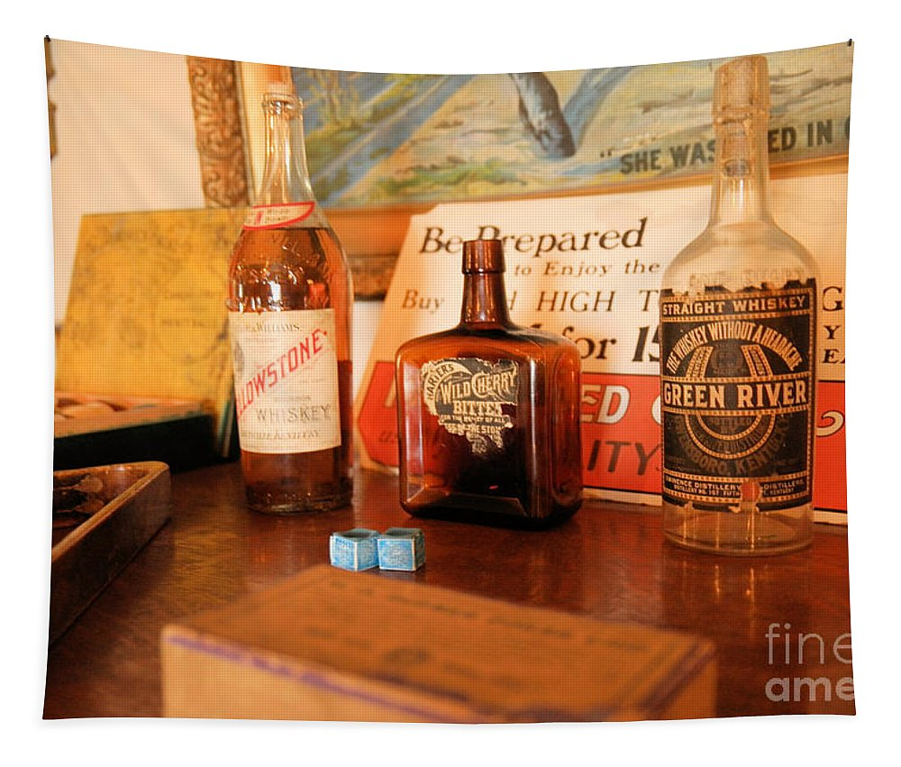 Old West Tapestry featuring the photograph Old Whiskey by Jeff Swan