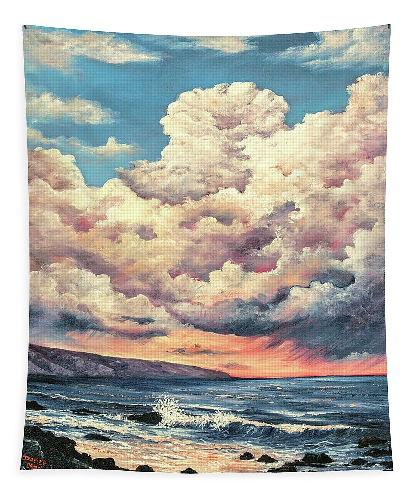 Darice Tapestry featuring the painting Olivine Pools Maui by Darice Machel McGuire
