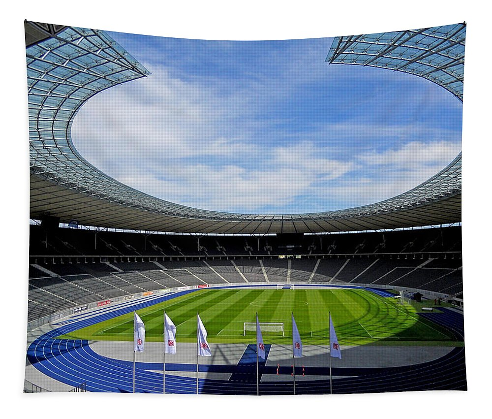 Germany Tapestry featuring the photograph Olympic Stadium Berlin by Juergen Weiss