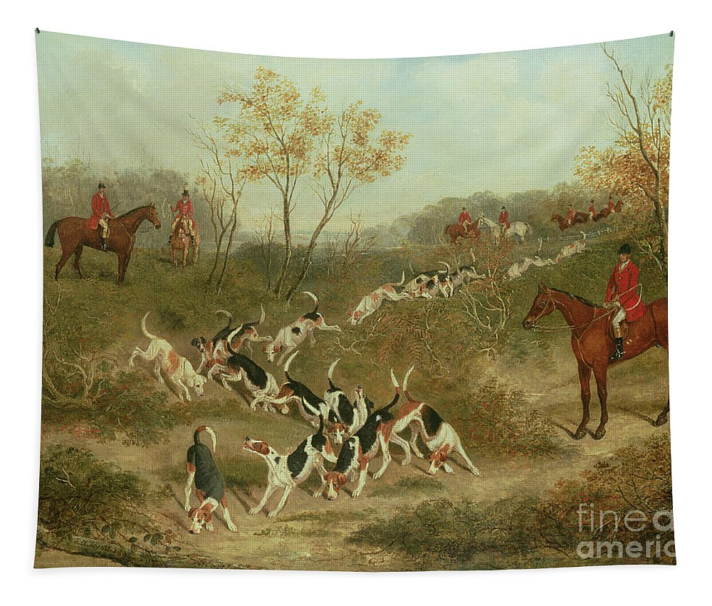 The Tapestry featuring the painting On The Scent by James Russell Ryott