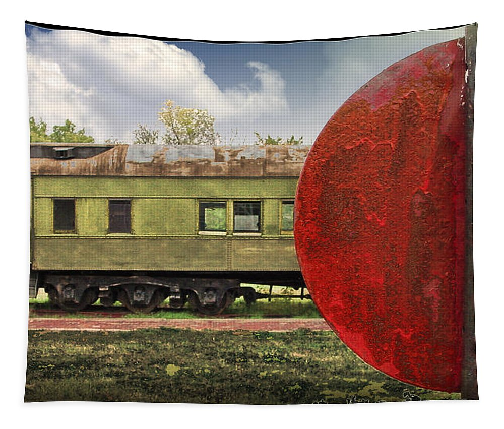 Trains Tapestry featuring the photograph On The Siding by John Anderson