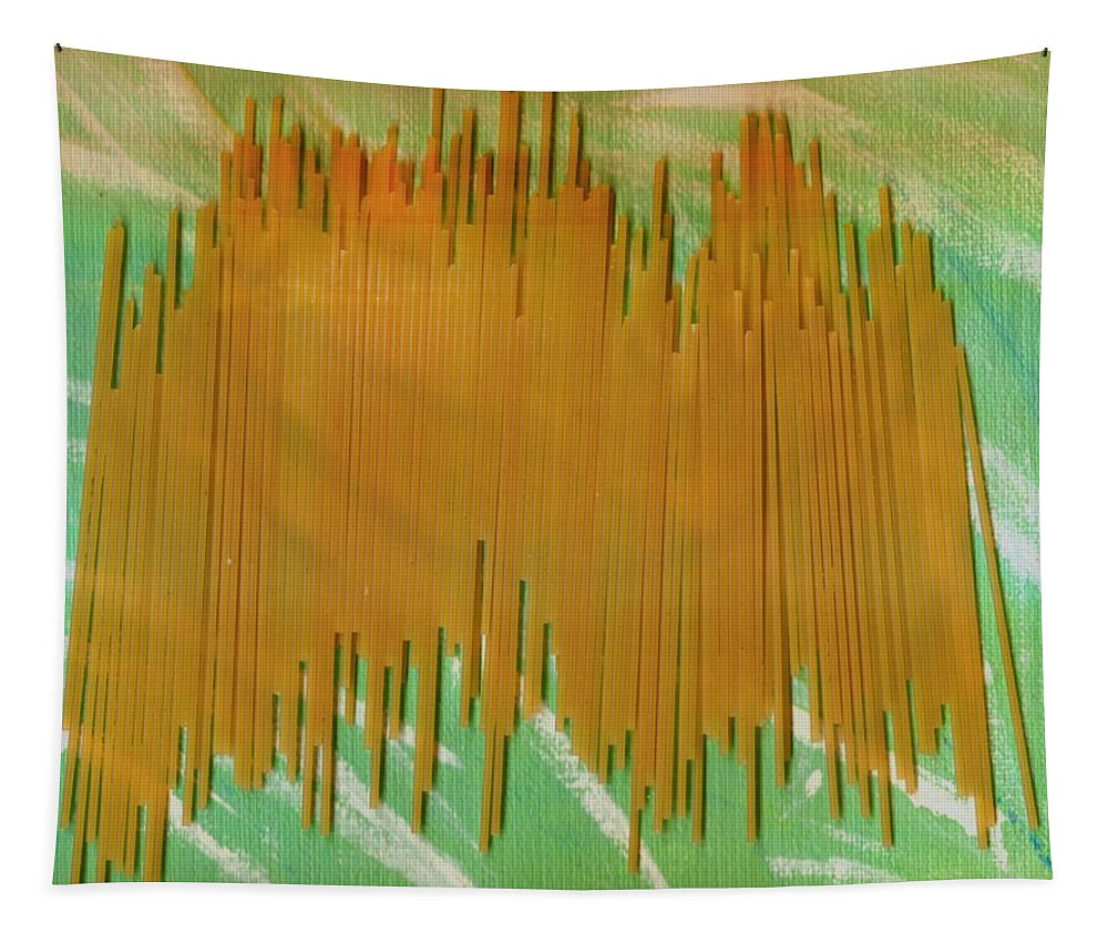 Food Tapestry featuring the mixed media On Your Wall Popart by Pepita Selles