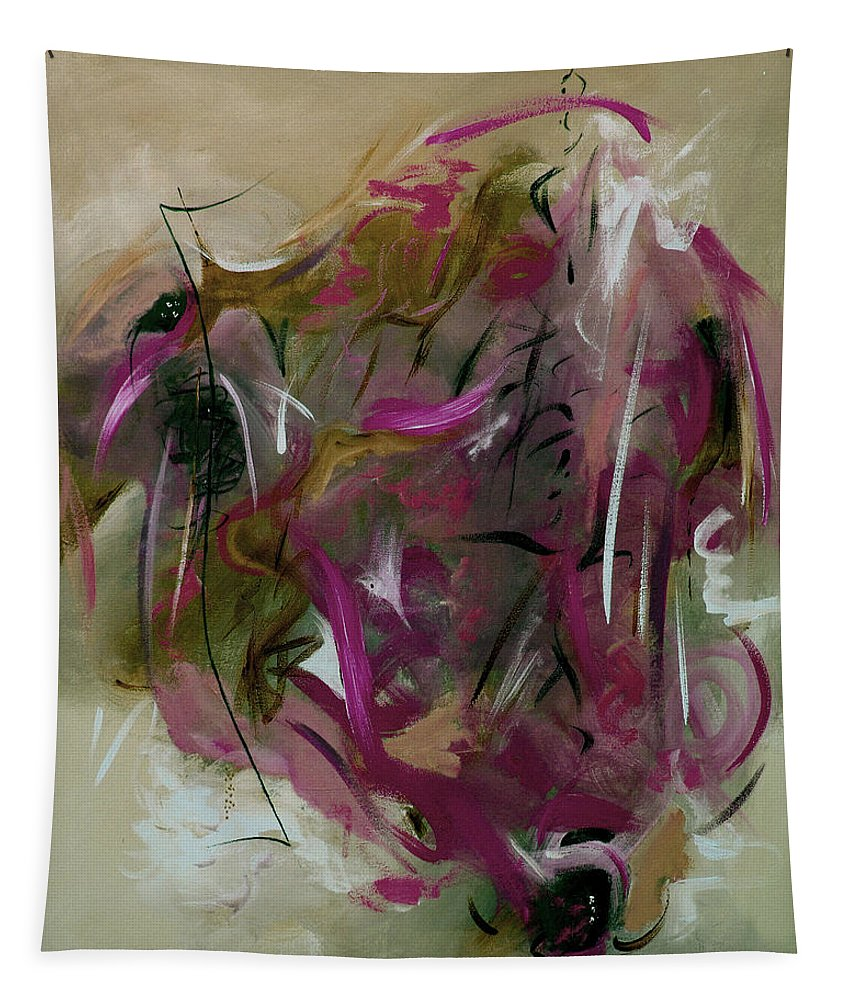 Abstract Tapestry featuring the painting Once by Ruth Palmer