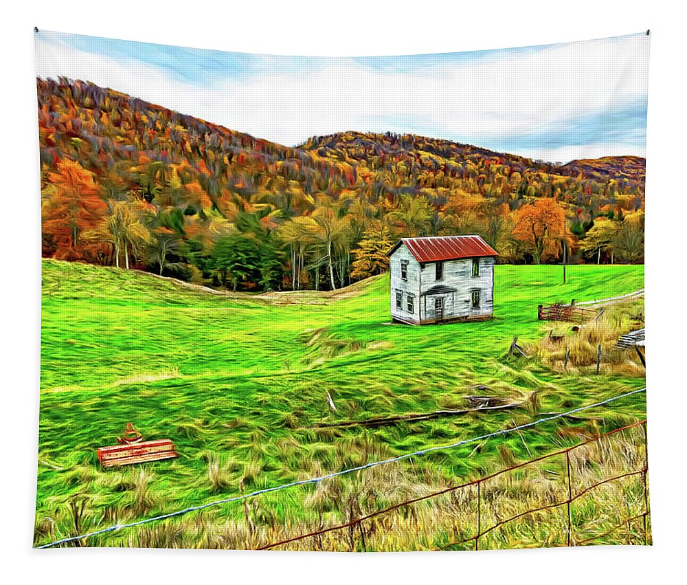 West Virginia Tapestry featuring the photograph Once Upon A Mountainside 2 - Paint by Steve Harrington