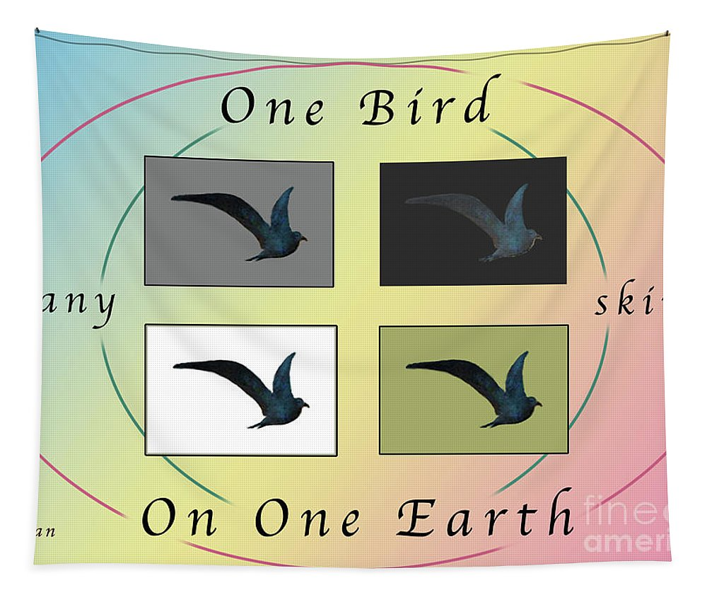 Bird Tapestry featuring the photograph One Bird Poster And Greeting Card V1 by Felipe Adan Lerma