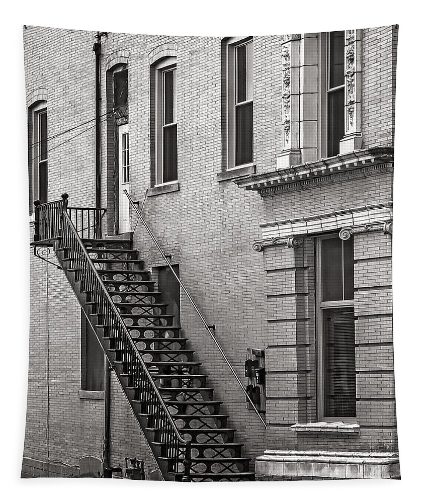 Architecture Tapestry featuring the photograph One Flight Up by John Anderson