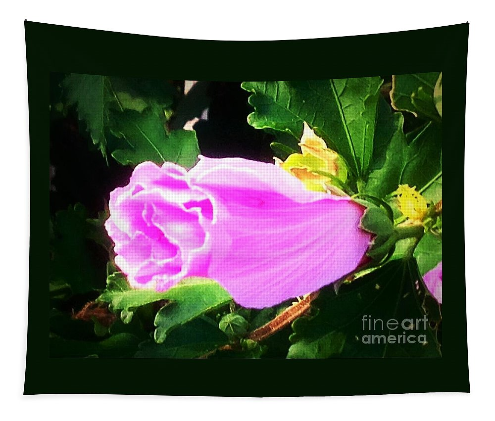 Floral Tapestry featuring the photograph One Pretty Flower by Debra Lynch
