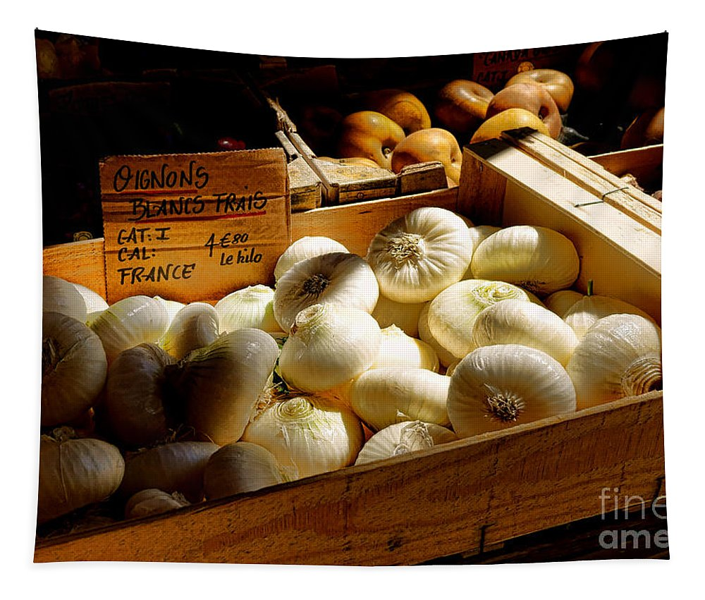 Onions Tapestry featuring the photograph Onions Blancs Frais by Olivier Le Queinec