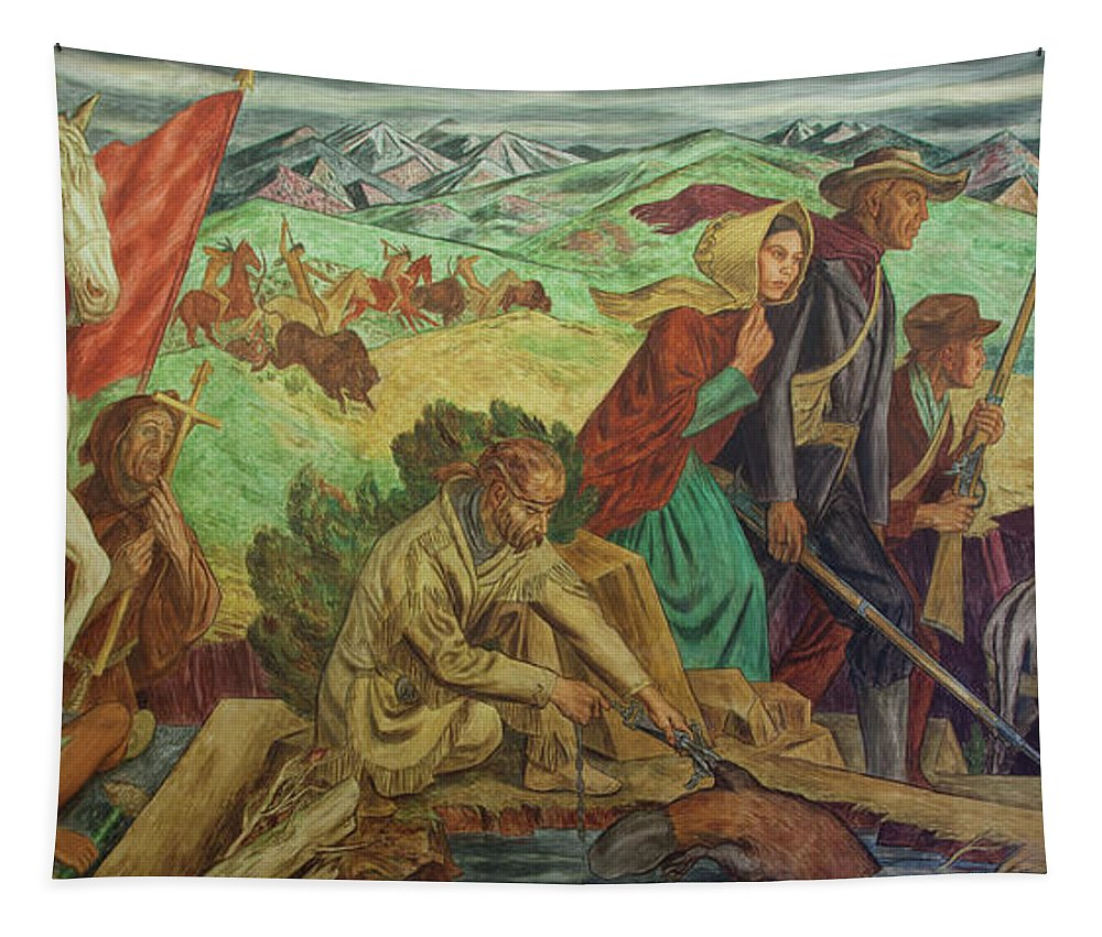 Painting Tapestry featuring the painting Opening Of The Southwest by Mountain Dreams