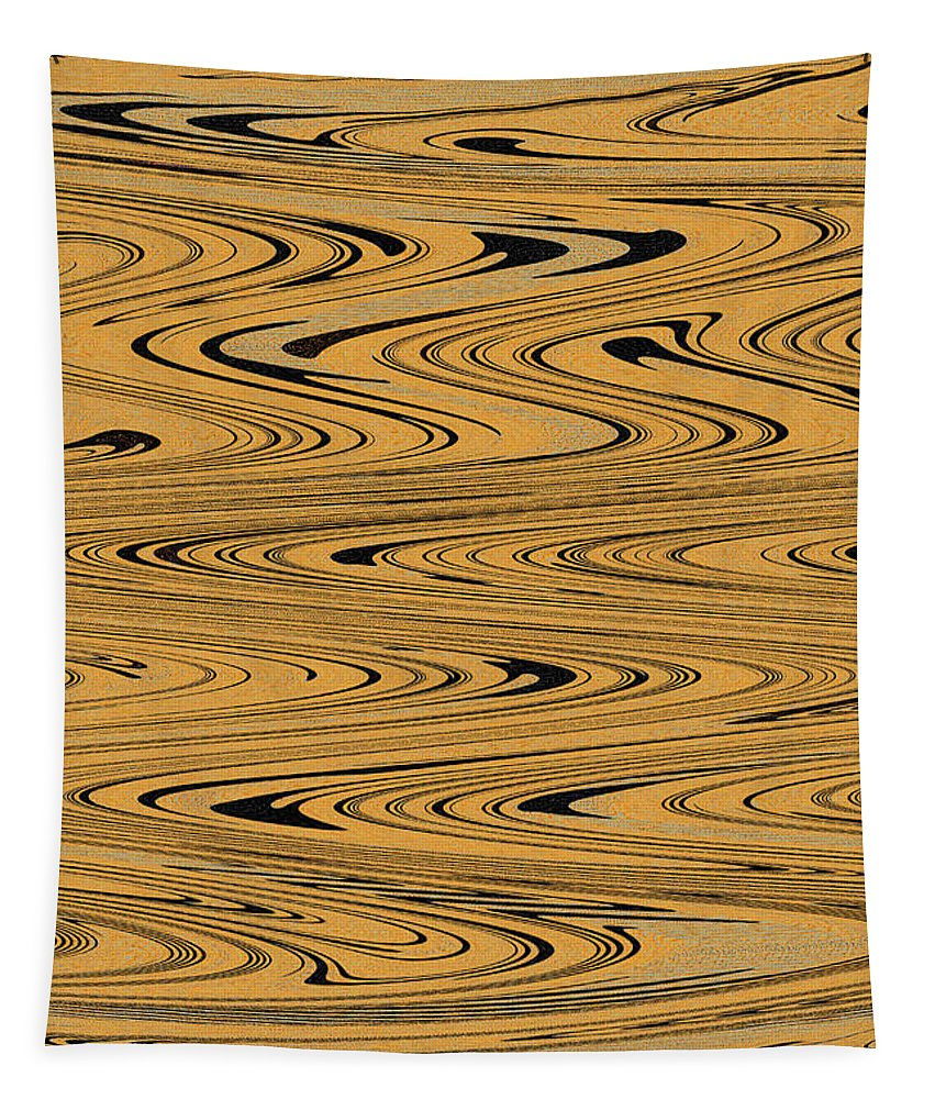 Orange And Black Abstrac Tapestry featuring the photograph Orange And Black Abstract by Tom Janca