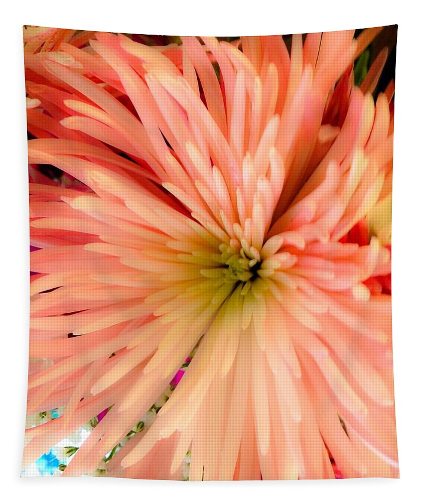 Flower Tapestry featuring the photograph Orange Glow by Debra Lynch