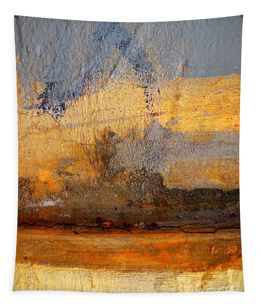 Abstract Tapestry featuring the photograph Orange Reluctance by Tara Turner