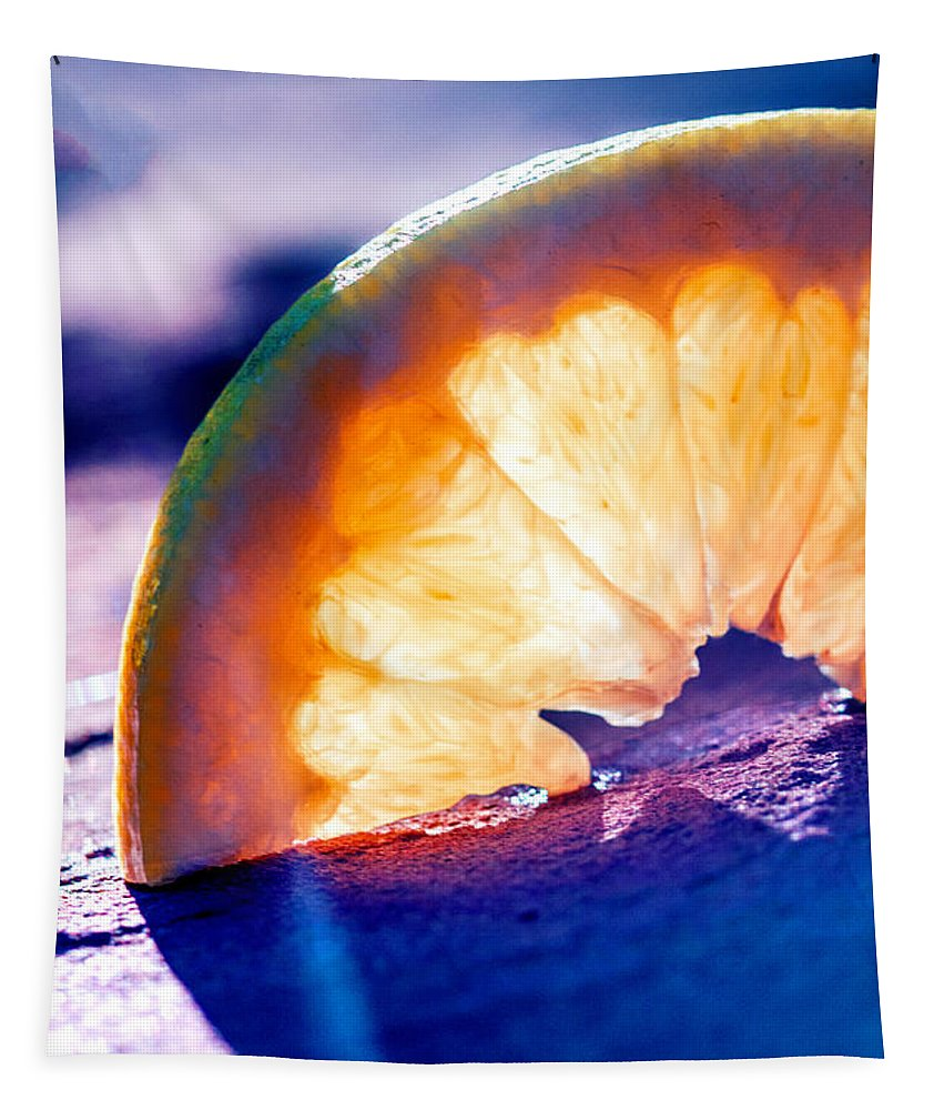 Photography Tapestry featuring the digital art Orange by Terry Davis