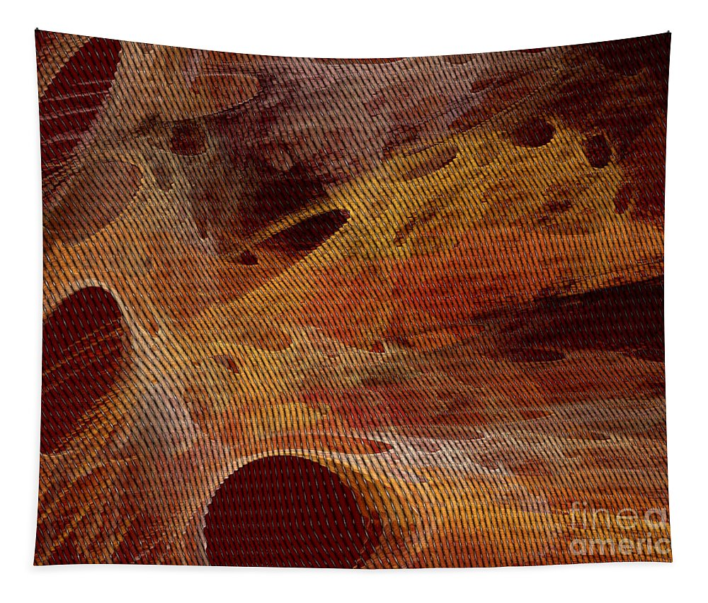 Orange Tapestry featuring the digital art Orange With Texture by Deborah Benoit