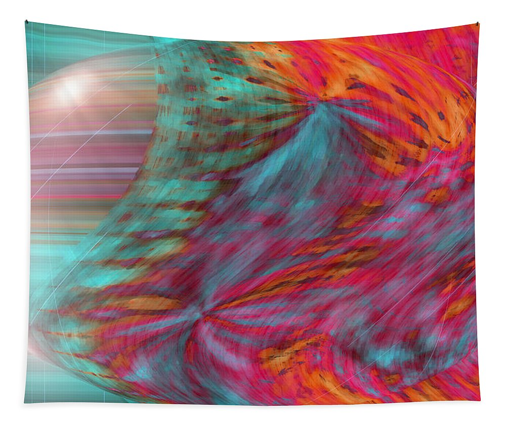 Abstract Art Tapestry featuring the digital art Order Of The Universe by Linda Sannuti