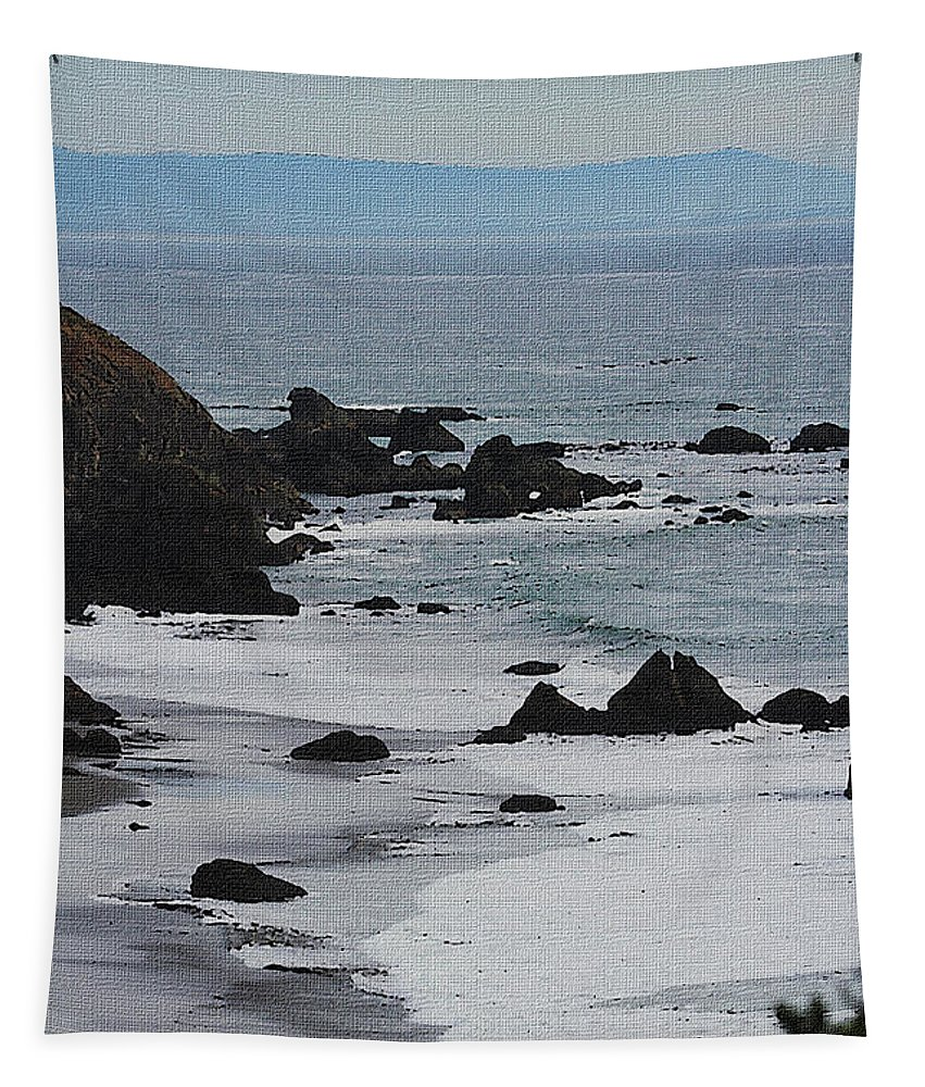 Oregon Coast #8509 Tapestry featuring the photograph Oregon Coast #8509 by Tom Janca