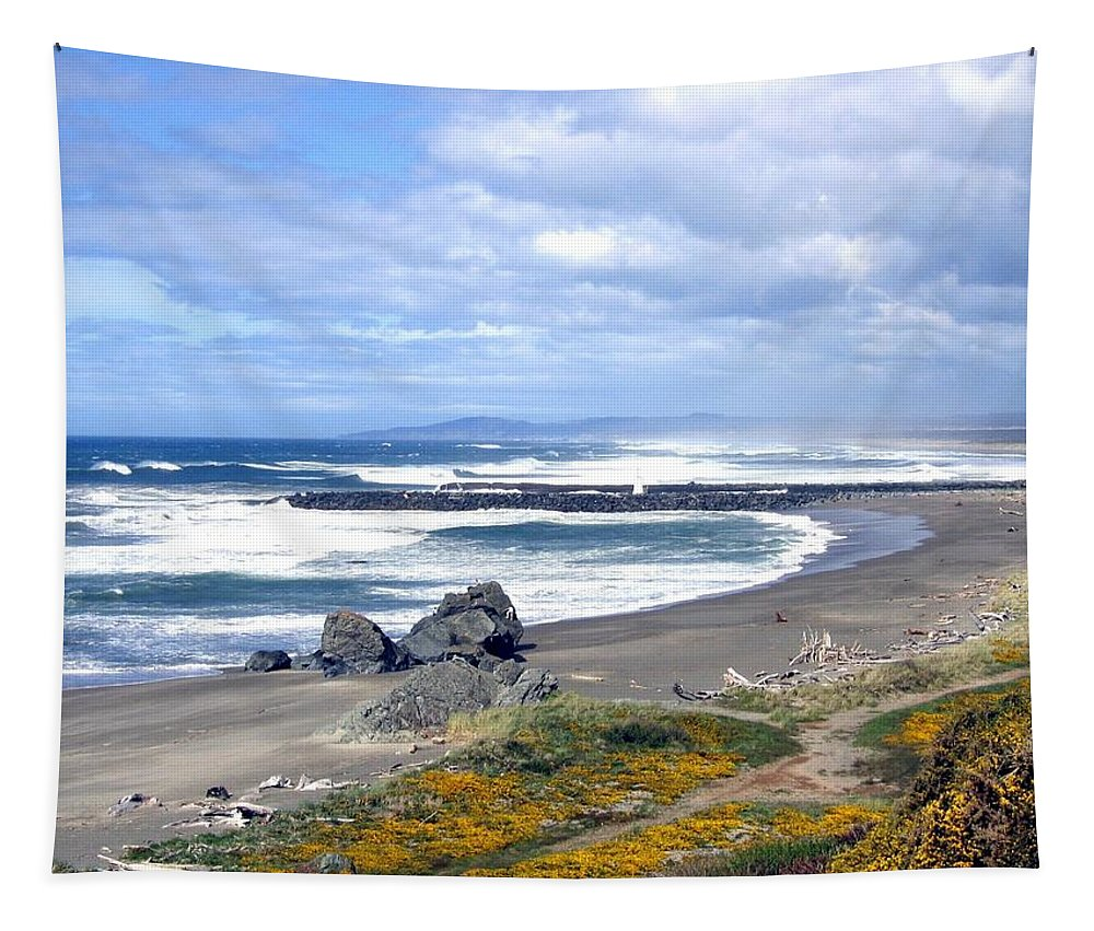 Bandon Tapestry featuring the photograph Oregon Coast by Will Borden