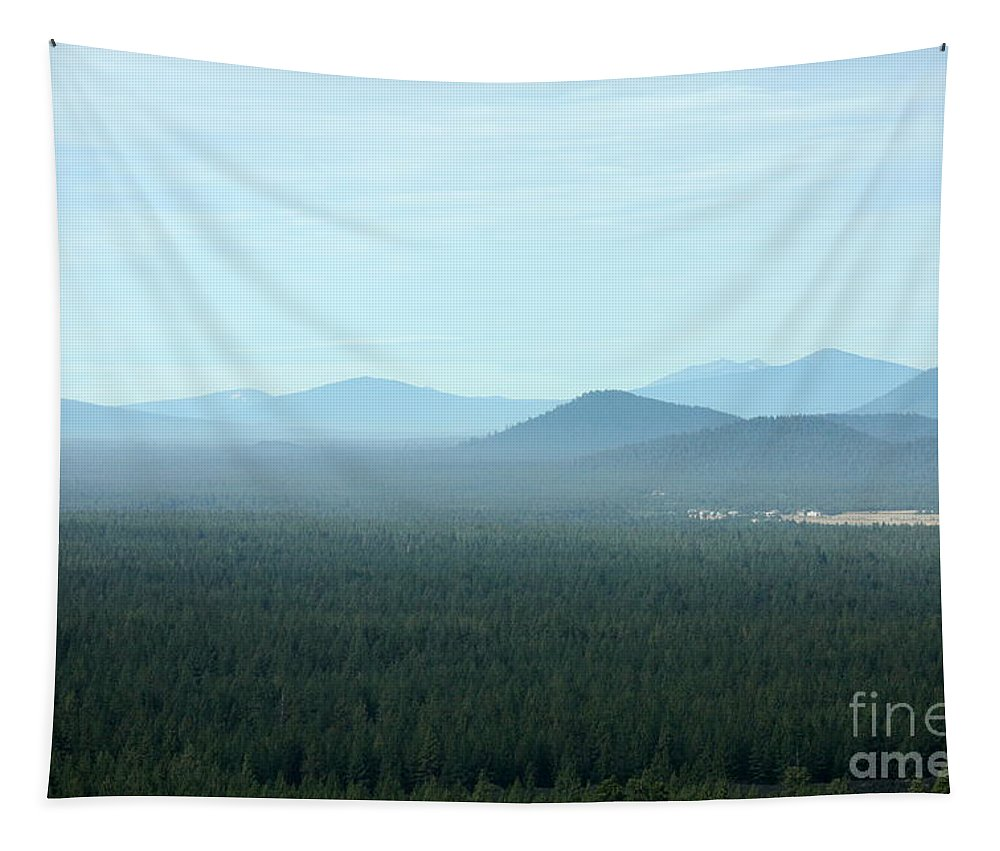 Oregon Landscape Tapestry featuring the photograph Oregon Misty Mountains by Carol Groenen