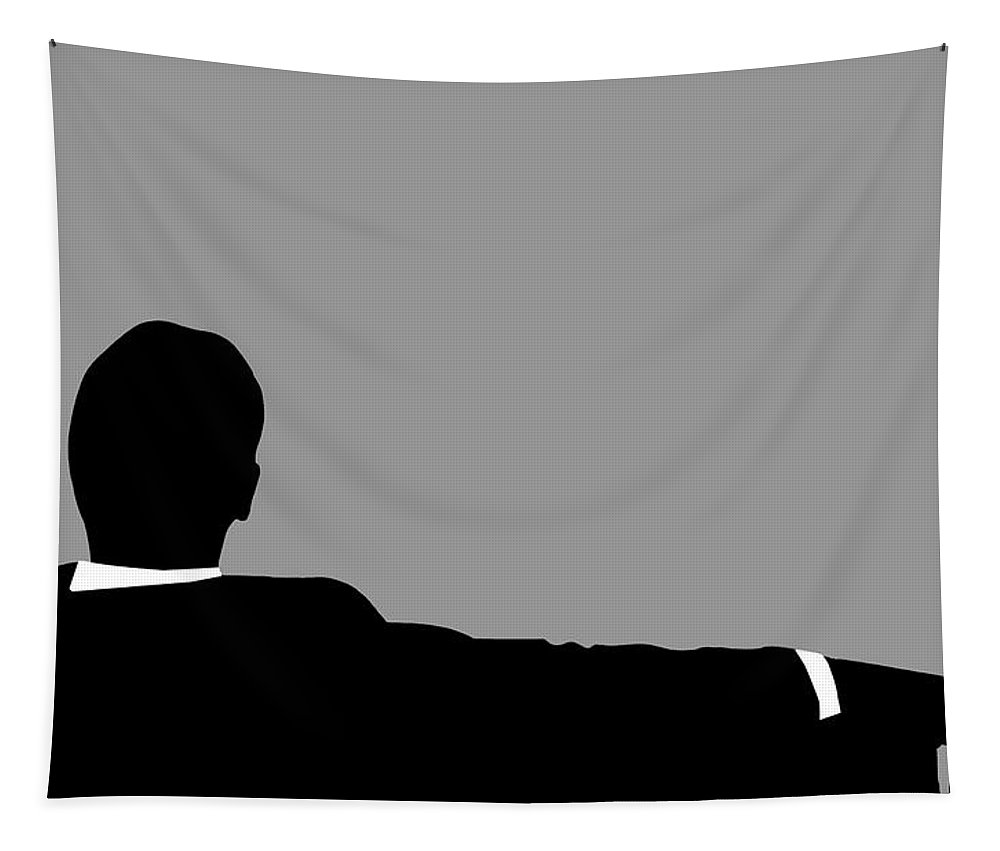 Mad Men Silhouette Tapestry featuring the digital art Original Mad Men by Dan Sproul