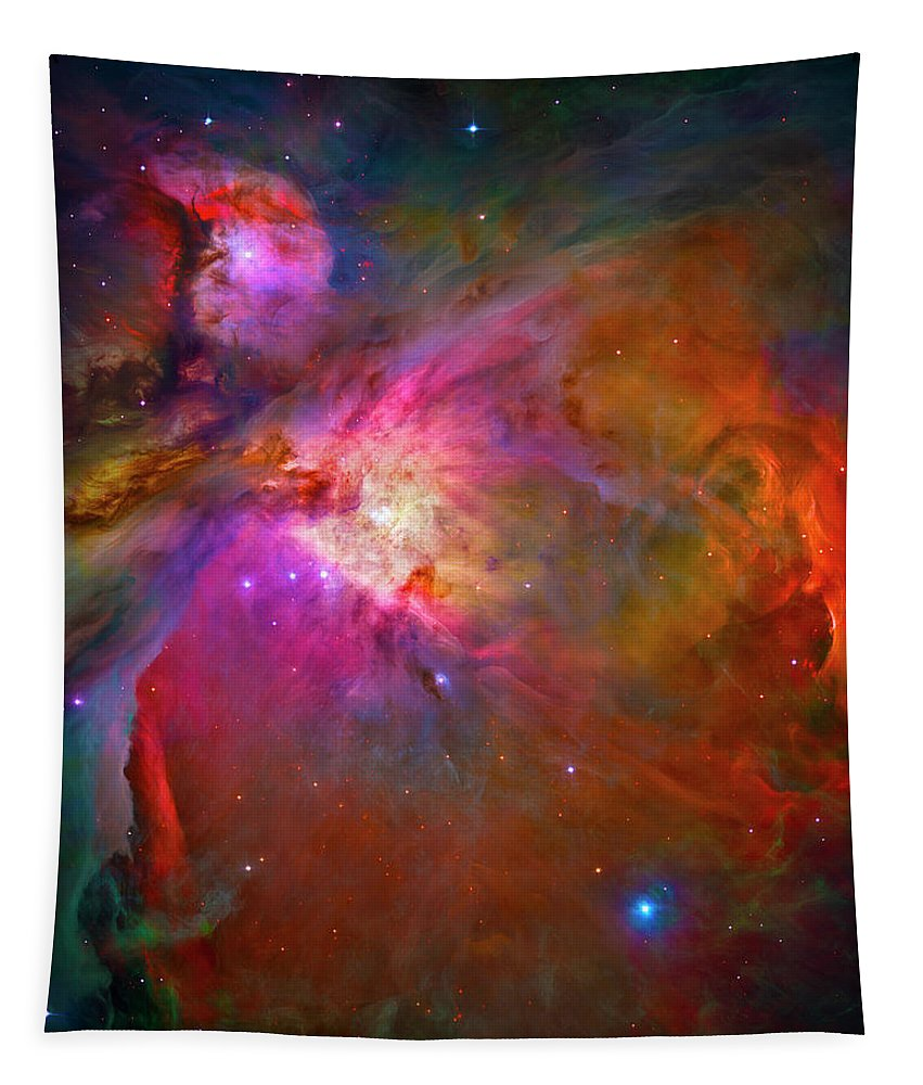 Orion Nebula Tapestry featuring the photograph Orion Nebula by Paul W Faust - Impressions of Light