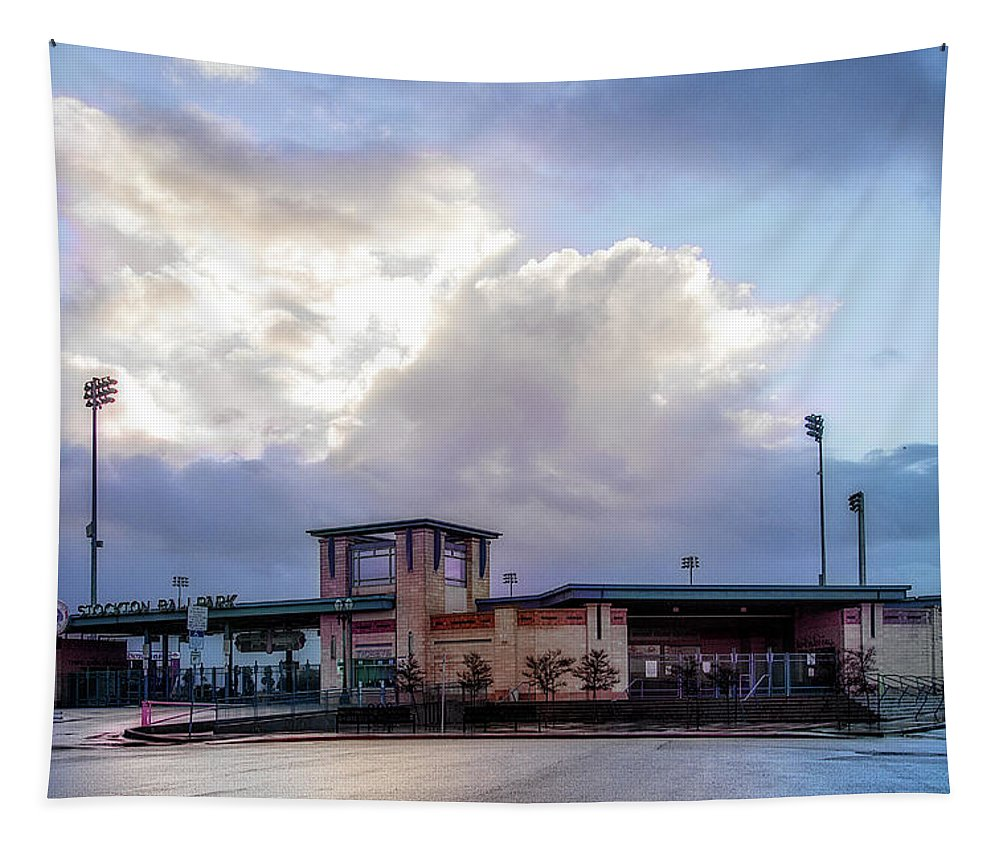 Baseball Tapestry featuring the photograph Our Ballpark by Terry Davis