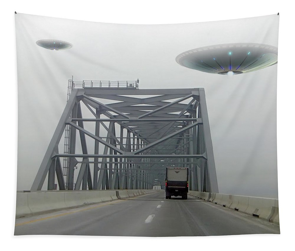 2d Tapestry featuring the photograph Out Of The Fog by Brian Wallace