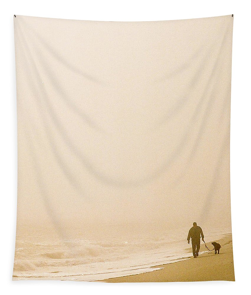 Landscape Tapestry featuring the photograph Out Of The Mist by Steve Karol