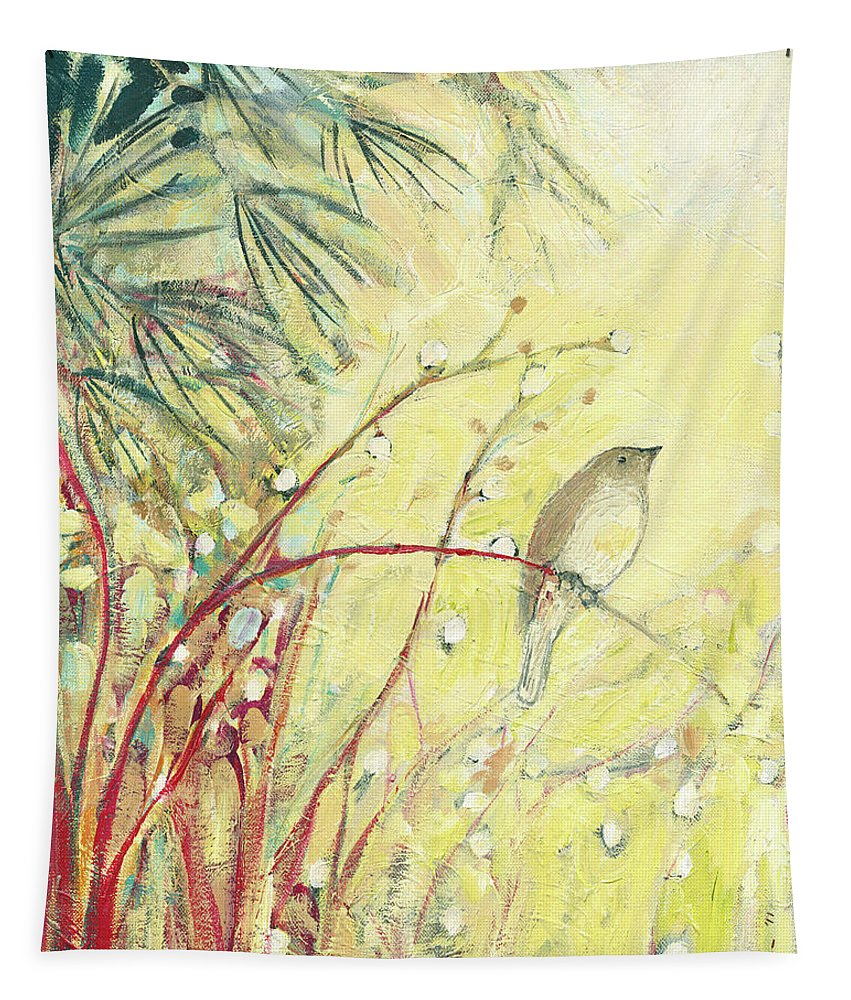 Bird Tapestry featuring the painting Out on a Limb by Jennifer Lommers
