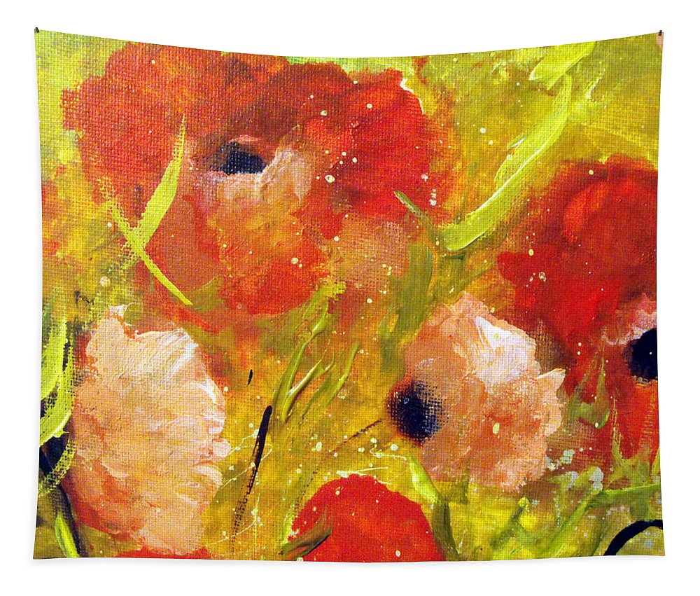 Decorative Tapestry featuring the painting Out With The Sun by Ruth Palmer