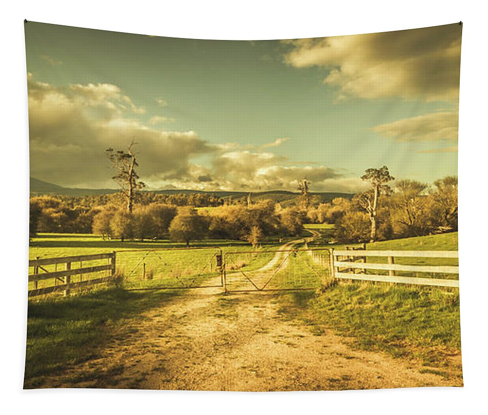 Farm Tapestry featuring the photograph Outback Country Paddock by Jorgo Photography - Wall Art Gallery