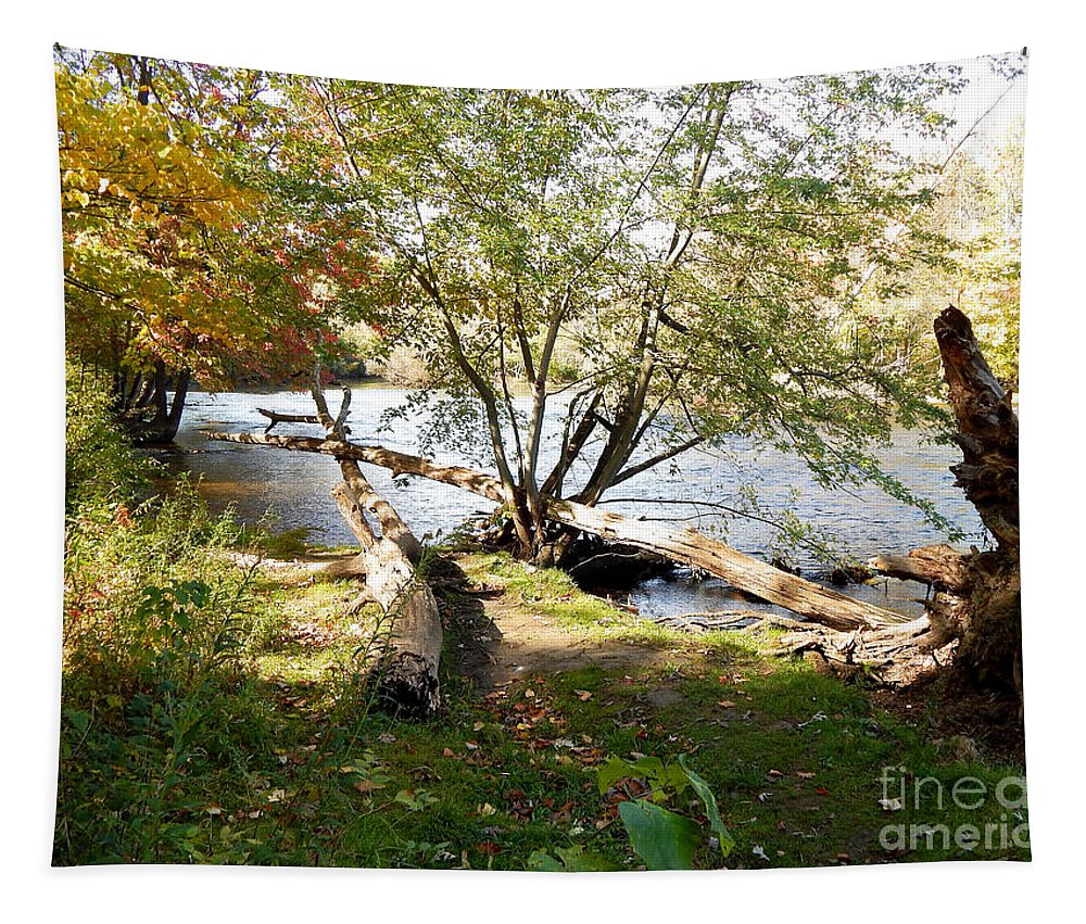 Outdoors Tapestry featuring the photograph Outdoors Along The Huron River by Phil Perkins